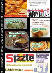 Sizzle 11445 Pulaski Hwy White Marsh-Eat Drink Dance