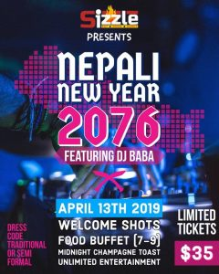 Nepali New Year 2076 @ Sizzle Baltimore
